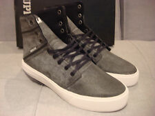 SUPRA MEN'S CAMINO WASHED GREY BLACK WHITE SIZE 12 SHOES - BRAND NEW