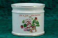 Vintage Strawberry Shortcake Life is Just the Berries Ceramic Candle Base Stand