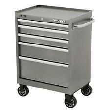 HUSKY LIMITED 5 DRAWER TOOL CABINET , Metallic Silver