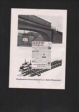 Berlín-Wilmersdorf, publicidad 1935, norte alemán Cement-asociación GmbH cemento