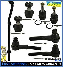 8 Pc Kit Front Driver & Passenger Ball Joint Tie Rod End Jeep Wrangler TJ 4WD