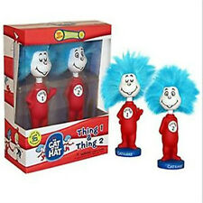 FUNKO CAT IN THE HAT THING 1 AND 2 WACKY WOBBLER BOBBLE HEAD RARE BRAND NEW OOP