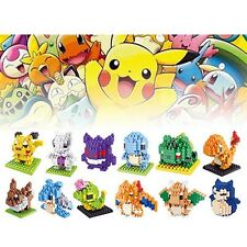 12pcs LOZ Nano Block Pokemon DIY Diamond Mini Building Blocks Toy Pocket Monster
