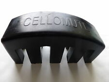 CELLO MUTE, HEAVY RUBBER, FOR 4/4 OR 3/4, BLACK, QUALITY ITEM, UK DESPATCH!