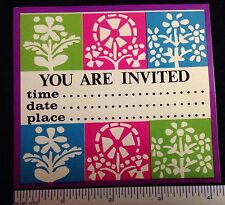WOODSTOCK GROOVY POP ART 20 1960s TIME DATE PLACE  INVITATION SEASON CARDS  #5a