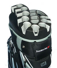 Founders Club Premium Cart Bag with 14 Way Organizer Top - Silver