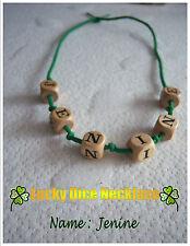Jenine Lucky Dados Collar (#365/14) Talla S-M Boho Hippy Teen declaración, Regalo