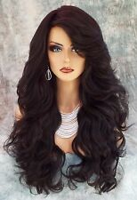 "28"" WAVY LONG THICK HEAT FRIENDLY WIG COLOR #2  GORGEOUS SEXY USA 231"