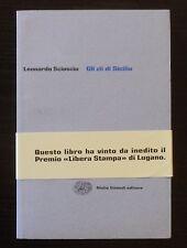 L. Sciascia GLI ZII DI SICILIA ediz fuori commercio per mercato rateale Einaudi