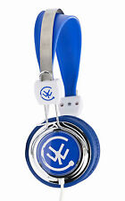 Urbanz ZIP Headphones Earphones Portable On Ear DJ for iPod iPhone DVD - Blue