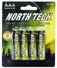 4-Pack North Tech® AA 600 mAh NiMH Solar Light Rechargeable Batteries FREE SHIP!