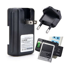 US EU Plug Wall Mobile Cell Phone Battery Charger With USB Port Output Happy