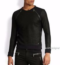 VERSACE COLLECTION Black Metallic Zipper Sweatshirt jumper L & XXL, rrp399GBP