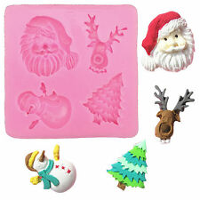 Christmas Theme Silicone Mold Fondant Cake Candy Pastry Chocolate Mould Tool