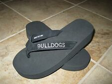 WOMENS SIZE SMALL (6-7) GEORGIA BULLDOGS FLIP FLOPS **BLACK WITH RHINESTONES**
