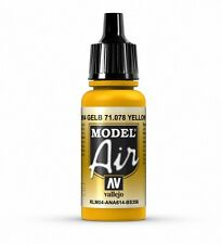 VALLEJO AIRBRUSH PAINT - MODEL AIR - GOLD YELLOW 17ML - 71.078