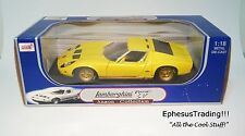 Anson Lamborghini Miura P400 SV Coupe V12 Yellow w/Tan & Black 30302 1/18 MINT!