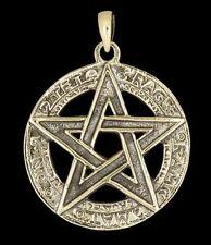 Anhänger - Skript Pentagramm mit Schriftzeichen - Bronze