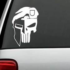 F1032 Molon Labe Helmet Punisher Special Ops Decal Sticker Car Truck SUV Surface