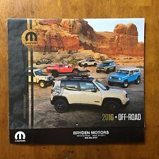 2016 Off Road Calendar Jeep Wrangler Grand Cherokee Rubicon