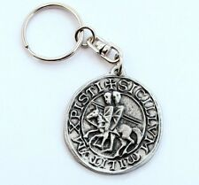 Knight's Templar Seal Key-ring (keychain) in Fine English Pewter,(H), Keyring