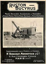 PARIS BERGERAT MONNOYEUR RUSTON BUCYRUS PELLES PUBLICITE ADVERTISING 1930