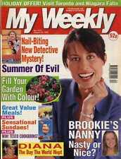 MY WEEKLY MAGAZINE 28/8/1999 PRINCESS DIANA , CROCHET PATTERN PILLOW DOLL