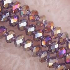 new 6x4mm Violet AB Crystal Loose Beads 98pcs Free Shipping A.010