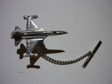 Northrop F-5E Tiger II c91 Tie Pin On Chain Made From Fine English Modern Pewter
