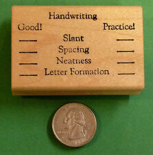 Handwriting Evaluation, Teachers'  Wood Mounted Rubber Stamp