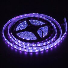 5M/16FT UV Purple SMD 5050 300 LED Flexible Light Strip Waterproof IP65 DC 12V