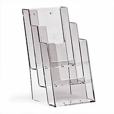 1/3 DL A4 (100mm W x 210mm H) 3 Tier Leaflet Holder Display Stand-BPS3C104 x 2
