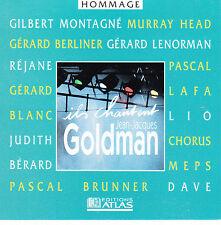 CD CHANTENT JEAN JACQUES GOLDMAN 12T DAVE/MONTAGNE/BERLINER/LENORMAN/LAFA/LIO