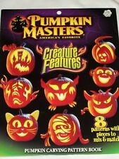 Halloween Pumpkin Masters Creature Features Carving Pattern Book Jack-O-Lantern