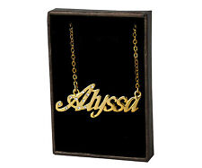 "Name Necklace ""ALYSSA"" - 18ct Gold Plated - Jewellery Identity Anniversary Gifts"