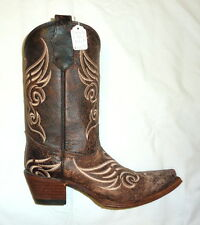 Circle G Corral L5002 Size 5.5M Womens Western Cowgirl Boots Distressed Bone NEW