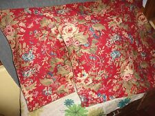 RALPH LAUREN CHAPS PLAID GREEN BROWN SUMMERTON RED (PAIR) KING PILLOW SHAMS