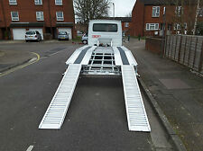 RECOVERY TRUCK ALUMINIUM RAMPS CAR TRANSPORTER SALVAGE.FROM £325.00 PLUS VAT