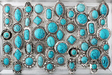 5Pcs Wholesale Mixed Lots Vintage Gemstone Turquoise Rings Jewelry New FREE