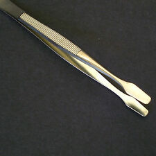 "Showgard Tongs #903 Spade Tip 4 5/8"" Long With Green Plastic Case"