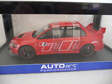 MITSUBISHI LANCER EVOLUTION  IX RALLIART - Rouge / Red - autoart 1/18