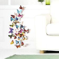 19 PEZZI 3d Farfalla Adesivi Murali Adesivo Parete Frigo Finestra Adesivo