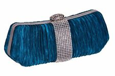 Womens Prom Wedding Party Evening Bridal Clutch Handbag Ladies Ruched Purse Bag