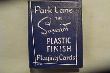 RARE NON PIN UP BLUE 1950S PARK LANE SUPERIOR PACK DECK PLAYING CARDS UNUSED