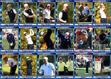 2012 Ryder Cup Golf Trading Cards - European Squad Medinah