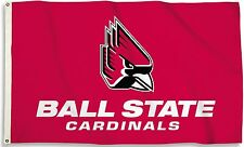 Ball State Cardinals 3' x 5' Flag (Logo) NCAA Licensed