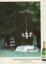 Publicité Advertising  1989  Champagne HENRIOT souverain brut