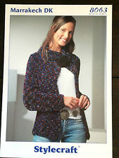 "Stylecraft Knitting Pattern: Ladies Jacket Cardigan, DK, 32-42"", 8063"