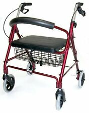 Duro-Med Extra Wide Rollator Walker, Folding Light Weight Aluminum Rollator...