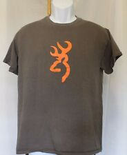 Browning - Buckmark Deer Logo Brown T-Shirt Sz.M